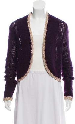 Milly Wool Blend Crop Cardigan