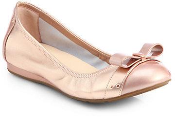 Cole Haan Monica Air Metallic Leather Ballet Flats