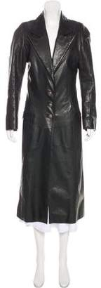 Chrome Hearts Leather Duster Coat