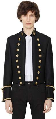 Short Wool Cloth Military Jacket