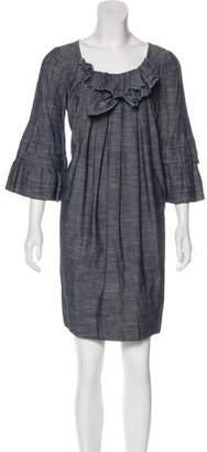 Chris Benz Three-Quarter Sleeve Mini Dress