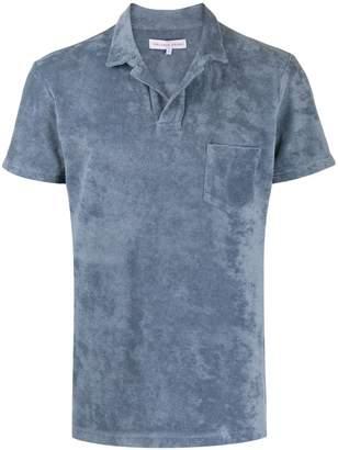 Orlebar Brown plush textured polo shirt
