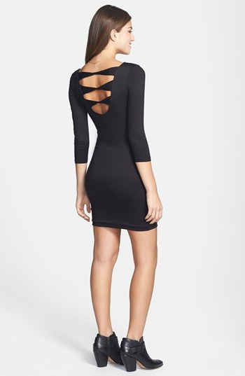 Soprano Back Cutout Body-Con Minidress (Juniors)