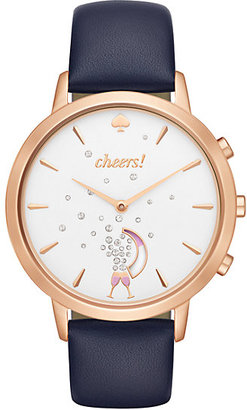 Navy and rose smart watch $250 thestylecure.com