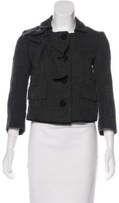 Hache Wool-Blend Cropped Jacket