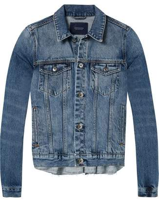 Scotch & Soda Pleated Trucker Jacket
