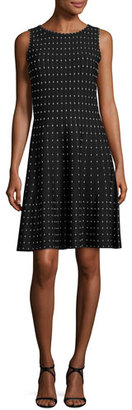 NIC+ZOE Stardust Twirl Dress, Multi Black $228 thestylecure.com