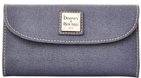 Dooney & Bourke Saffiano Continental Clutch Wallet - DARK GREY - STYLE