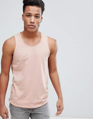 Solid Tank With Raw Edge