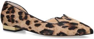 Charlotte Olympia Leopard-Print Kitty Flats