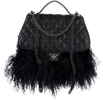 Chanel Large Paris-Dallas Fur Fringe Satchel Black Large Paris-Dallas Fur Fringe Satchel