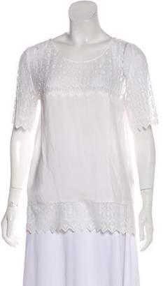 The Kooples Silk Short Sleeve Top