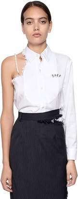 Facetasm Asymmetrical Raw Cut Cotton Shirt
