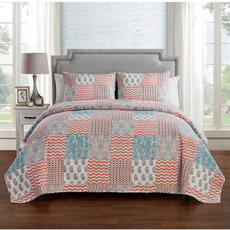 Vcny Home Anna Patchwork 3-Pc. King Quilt Set