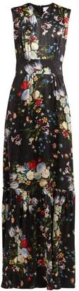 Erdem Lillian Edith Print Silk Gown - Womens - Black Multi