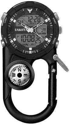 Dakota Men's Black Ana Digi Angler II Carabiner Clip Watch 37243