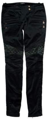 Balmain Velvet Low-Rise Pants