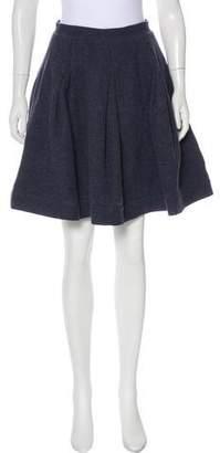 Zac Posen Z Spoke by Pleated Tweed Skirt