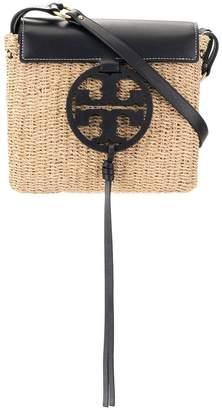 Tory Burch Miller straw crossbody bag