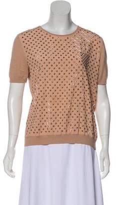 No.21 No. 21 Star-Embellished Knit Top