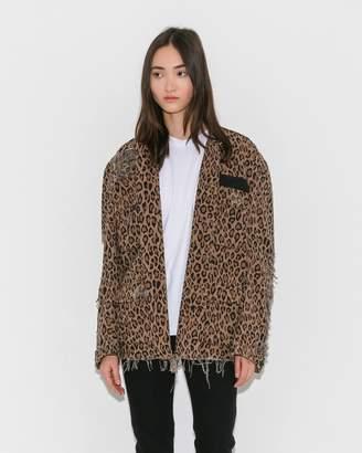 R 13 Leopard Shredded Abu Jacket