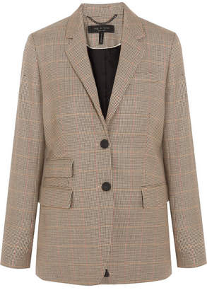 Rag & Bone Rona Houndstooth Wool Blazer - Brown