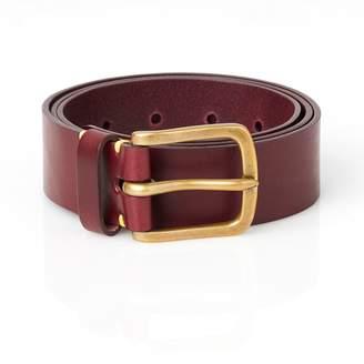 Awling - Original Handmade Leather Belt Oxblood and Brass