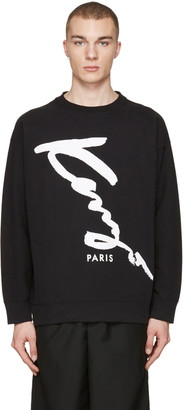 Kenzo Black Oversized Signature Logo Pullover $270 thestylecure.com