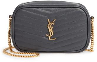 Saint Laurent Mini Lou Quilted Leather Crossbody Bag