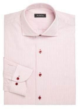 Classic Fit Striped Cotton Dress Shirt