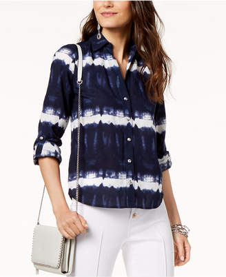 INC International Concepts Inc Tie-Dye Button-Up Shirt