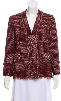 Chanel Button-Up Tweed Jacket
