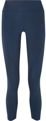 LNDR - Sculpt Cropped Stretch-knit Leggings - Blue