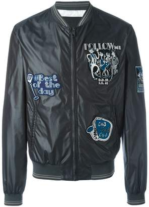 Dolce & Gabbana musical patch bomber jacket
