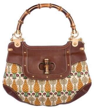 Gucci Pigna Peggy Bamboo Handle Bag