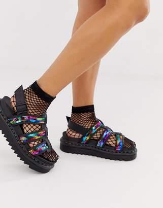 Dr. Martens Yelena sandals in rainbow sequin