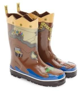Kidorable 'Pirate' Waterproof Rain Boot