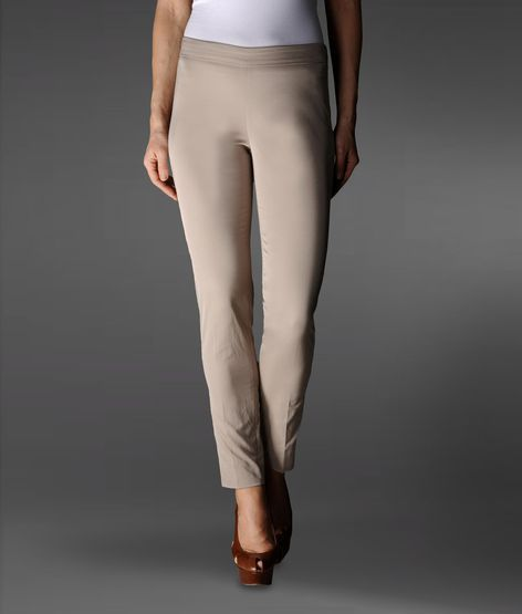 Emporio Armani Cigarette Pants With Rear Pockets And Logo