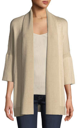 Lafayette 148 New York Short-Sleeve Open-Front Cardigan