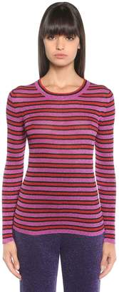 Missoni Lurex Striped Rib Knit Sweater