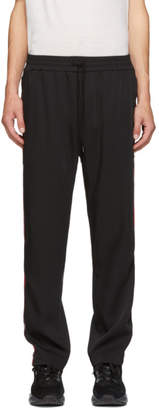 Cmmn Swdn Black and Red Buck Track Pants