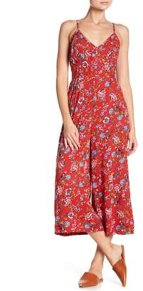 Angie V-Neck Floral Print Jumpsuit