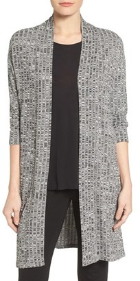 Women's Chaus Marled Rib Open Front Cardigan $79 thestylecure.com