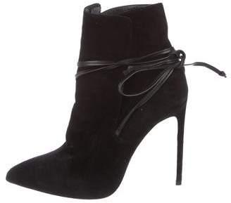 Saint Laurent Suede Paris Ankle Boots