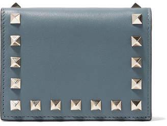 Valentino Garavani The Rockstud Leather Wallet - Teal
