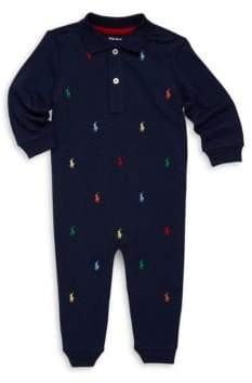 Ralph Lauren Baby Boy's Allover Pony Cotton Coverall
