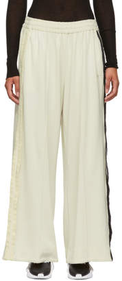 Y-3 White 3-Stripe Selvedge Matt Lounge Pants