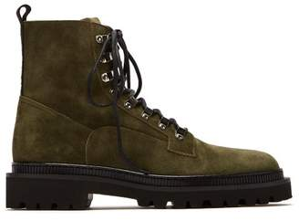 Balmain Ranger Suede Boots - Mens - Khaki