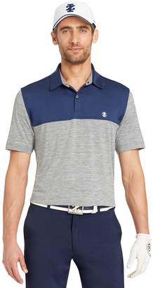 Izod Men's Tee Time Classic-Fit Colorblock Performance Golf Polo