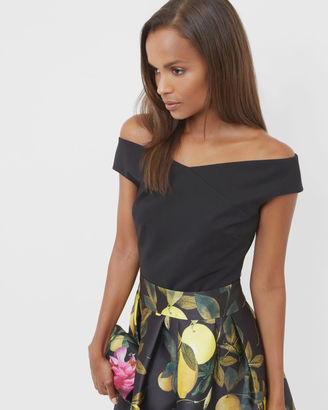 Cropped Bardot top $165 thestylecure.com